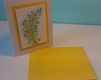Yellow narcissus - card