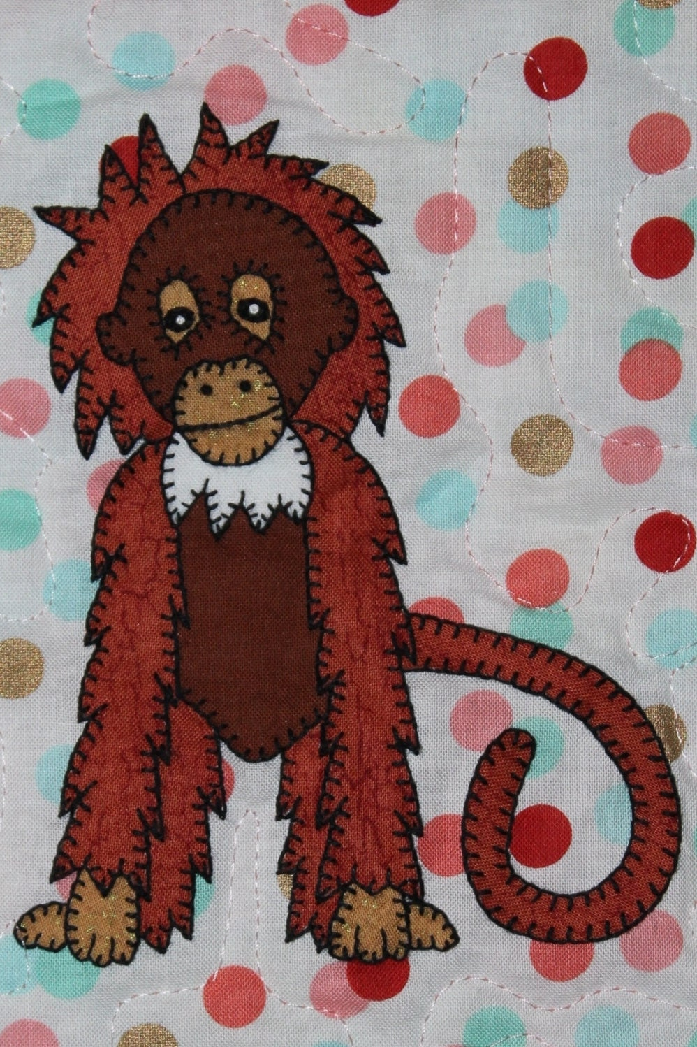 Orangutan Pdf Applique Pattern Zoo Animal Applique Quilt