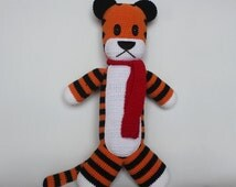 BIG crochet Tiger Hobbes inspired by Calvin and Hobbes, Hobbes Plush, Hobbes Plushie Doll, Amigurumi doll