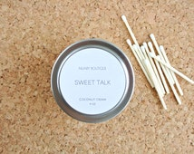 Sweet Talk-Soy Candle. Tin Candle. Unique gift ideas. Coconut Cream, 4oz, Scented Candle