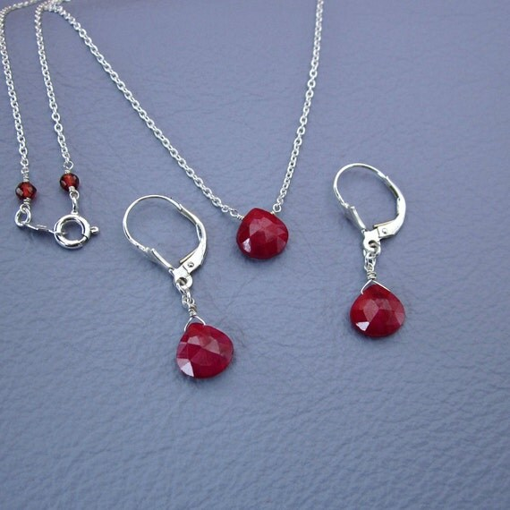 Ruby necklace best valentines gift genuine ruby necklace like this item mozeypictures Gallery