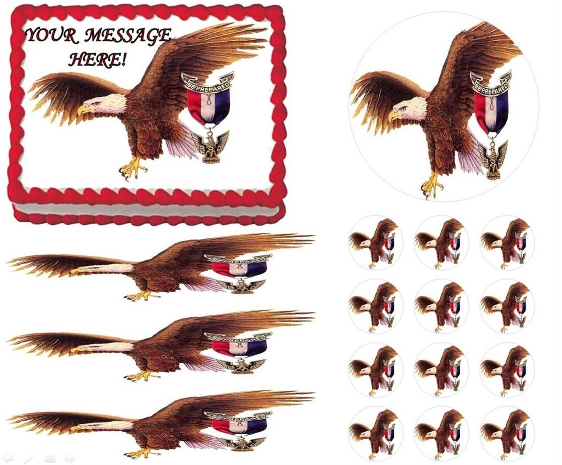 Eagle Scout Edible Cake Topper Image Court of Honor Cake
