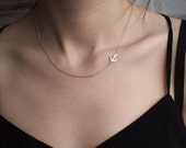 20% OFF Dainty Anchor Necklace, Minimalist Necklace, Simple Layering Necklace in Sterling Silver, Gold plated, Rose Gold plated D63