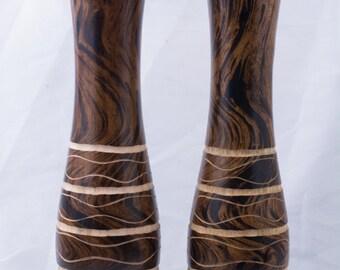 Beautiful wooden vase made with mango wood
