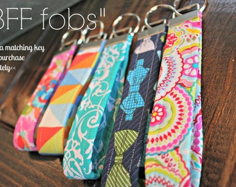 BFF fobs. Key Fob. any design! FREE SHIPPING Add a matching key fob or purchase single