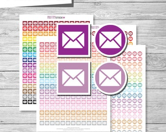 Mail Stickers, Printable Mail Planner Stickers, Mail Planner Stickers, Printable Mail Icons Stickers - PS33
