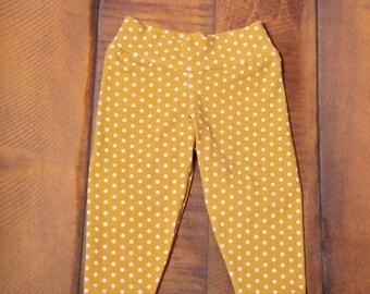 Mustard Polka Dot Leggings/Mustard Leggings