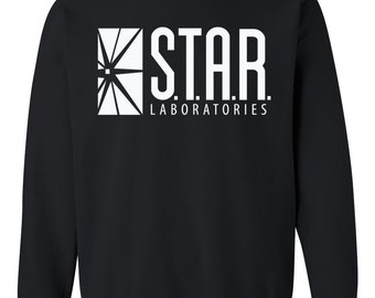 SALE - STAR Laboratories sweatshirt - Team Flash - STAR Labs crewneck - Star lab hoodie - Star Labs sweatshirt - Star Labs hoodie