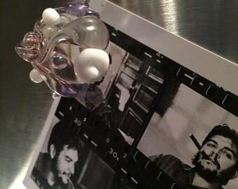 Glass Flower Magnet