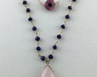 """Pink Chalcedony """"Skylight"""" Necklace"""