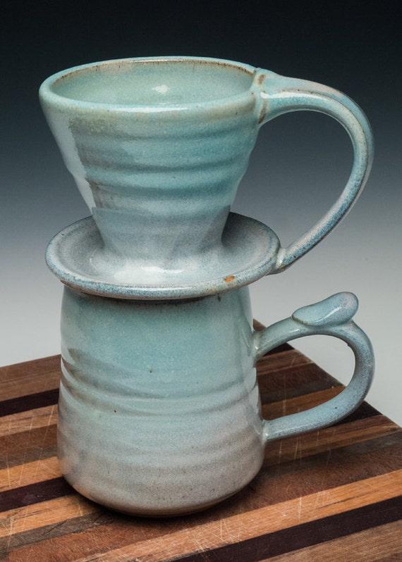 pour over coffee set mug and pour over cone. Black Bedroom Furniture Sets. Home Design Ideas