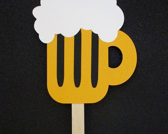 Beer Mug Photo Booth Prop - Wedding - Birthday Party Photo Prop - Party Supplies - Photobooth Props - Beer Prop - FULLY ASSEMBLED