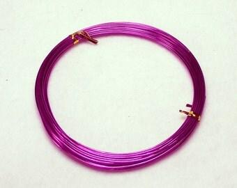 10 Yards (30 Feet) Fuchsia Colored 1mm 18 Gauge Aluminum Beading Wire