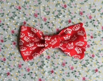 Crown Print Bow Tie
