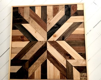 Beautiful Handmade Wooden Geometric Art Piece