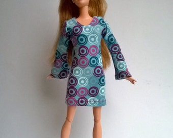 Barbie dress in Petro-rotor Tedder