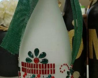 Christmas Present wine bottle