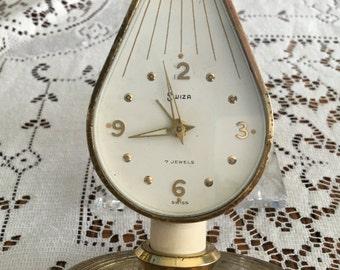 Gorgeous Swiza Swiss 7-Jewel Candlestick Mechanical Clock
