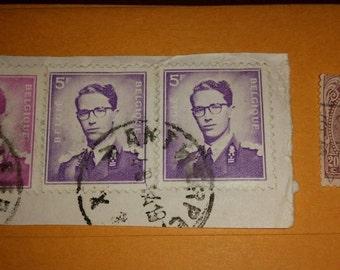 Vintage Used Belgique Postage Stamp