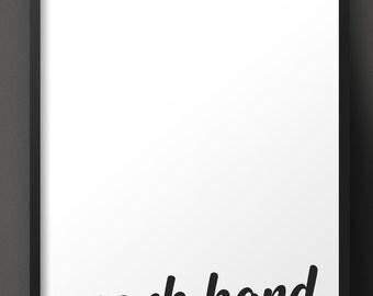 WORK HARD: print-it-yourself minimalist digital art