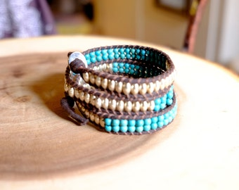 3x Boho vegan wrap bracelet