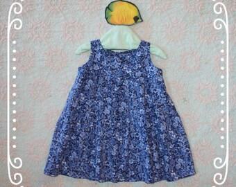 Girls blue calico dress, Girls blue dress, Girls size 3, Girls school dress, Girls outfit, Toddler dress, Blue toddler dress, Trendy kids