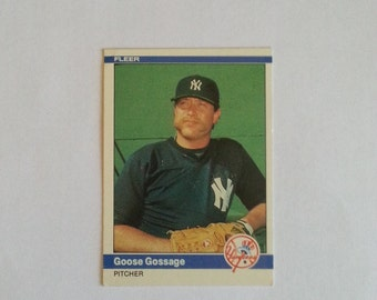 1984, Fleer, Baseball Card, Goose Gossage, New York Yankees, # 125, Sports Collectibles, Vintage, Sports Collectibles, Baseball Cards, M/NM
