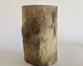 Large smoke fired ceramic log