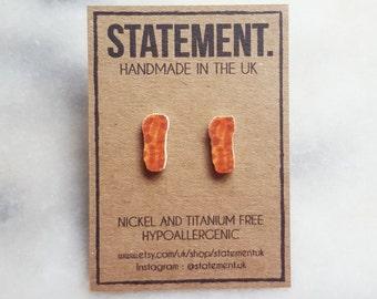 Bacon Stud Earrings - 1 pair