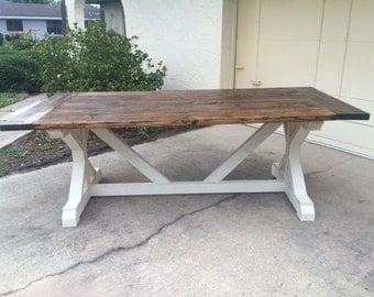 7ft X Farmhouse Table