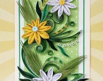 Beautiful Handmade Quilled Card