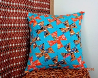 Dutch windmills Pillow by Patch Work or Quilt