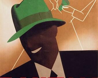 SALE!  Bantam Foldable Pocket Hats - Vintage Poster (9 x 13)
