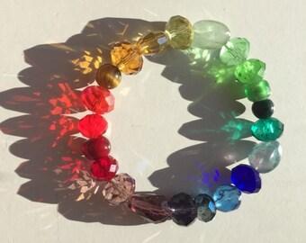 Rainbow Sparkle Chakra Bracelet