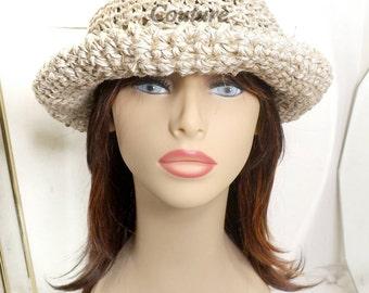 Summer Crochet Hat, Womens Hat, Hemp Hat, Summer Hat, Natural Hat,  Sun Hat, MONCHERIE Wide Brimmed Hat, Floppy Hat, Wide Brim Hat