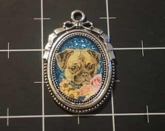 Pug Pendant, 50% goes to the current focus animal charity
