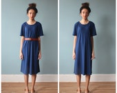 navy tent dress / tshirt dress / shirt dress / 1980s / small - medium
