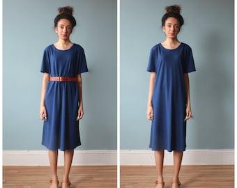 RESERVED navy tent dress / tshirt dress / shirt dress / 1980s / small - medium
