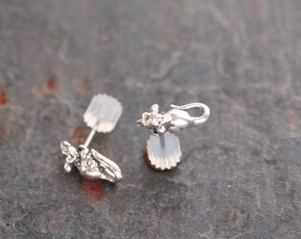 Sterling Silver Mouse Post Earrings
