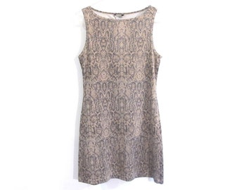 90s GUESS Jeans SNAKESKIN Print Body Con Dress