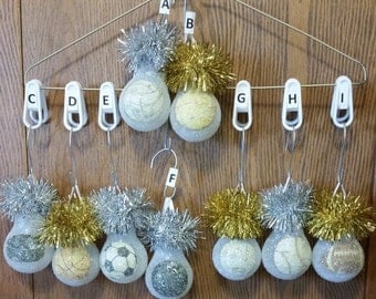 Volleyball Tennis Hockey Basketball Soccer Bowling Golf Baseball Football light bulb ornament