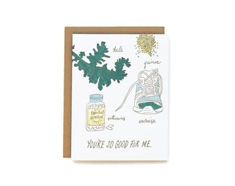 Good For Me - letterpress card