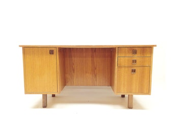 Vintage Danish Inspired Desk In Wood
