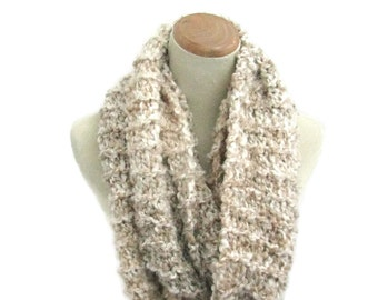 Knit Infinity Scarf, Knit Cowl, Knit Scarf, Chunky Loop Scarf, Hood Cowl, Neck Warmer, Circle Knit Scarf, Snood Scarf, Gift For Her, Women