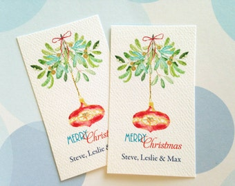 Christmas Gift Tags Personalized, Holiday Tags, Gift Tags, Set of 20