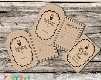 Spring Seed Packets - Envelope - School Parties / Gift Giving - Favours - Printable - Digital File - INSTANT DOWNLOAD