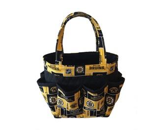 Boston Bruins Bingo Bag // NHL Craft Organizer // Makeup Organizer // Caddy // Teacher Tote // Nurse Tote