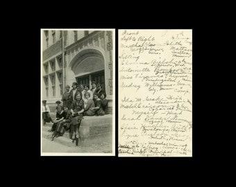 "Vintage Photo ""Forgotten Names"" Snapshot Photo Old Antique Photo Black & White Photograph Found Photo Paper Ephemera Vernacular - 196"