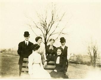 "Vintage Photo ""The Woodworth Family"" Snapshot Old Antique Photo Black & White Photograph Found Paper Ephemera Vernacular - 195"