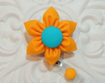 Retractable Badge Holder - Id Badge Reel - Badge Holder - Teacher Lanyard - Yellow